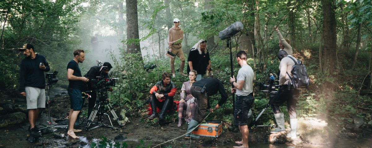 The film crew shooted in the wood